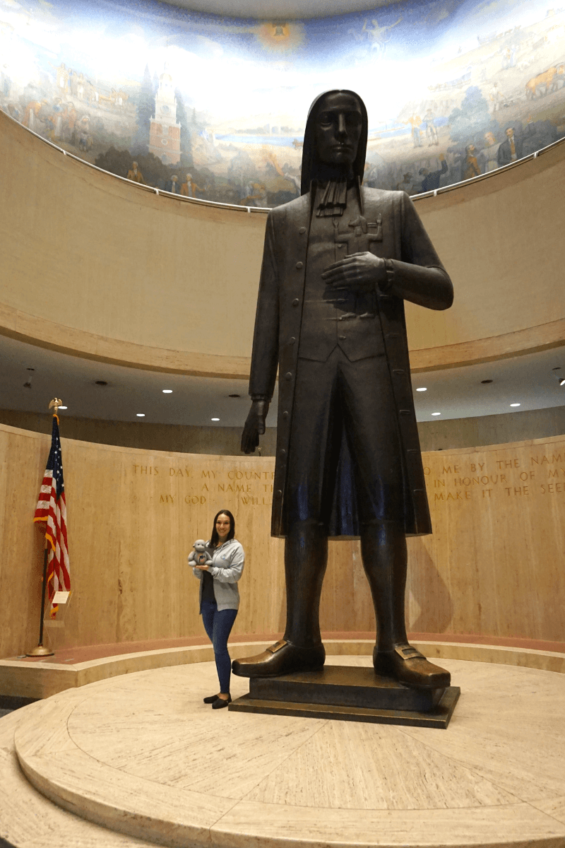 Hanging out with William Penn at the State Museum of Pennsylvania