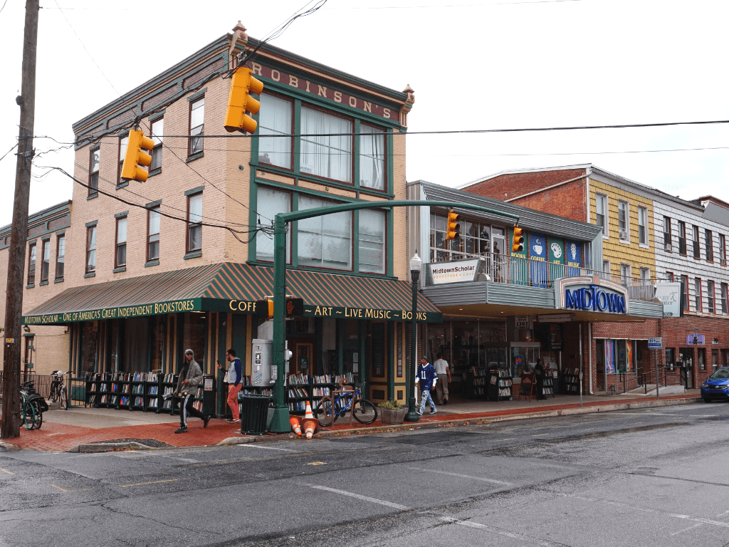 Midtown Scholar Bookstore is one of the unique things to do in Harrisburg PA