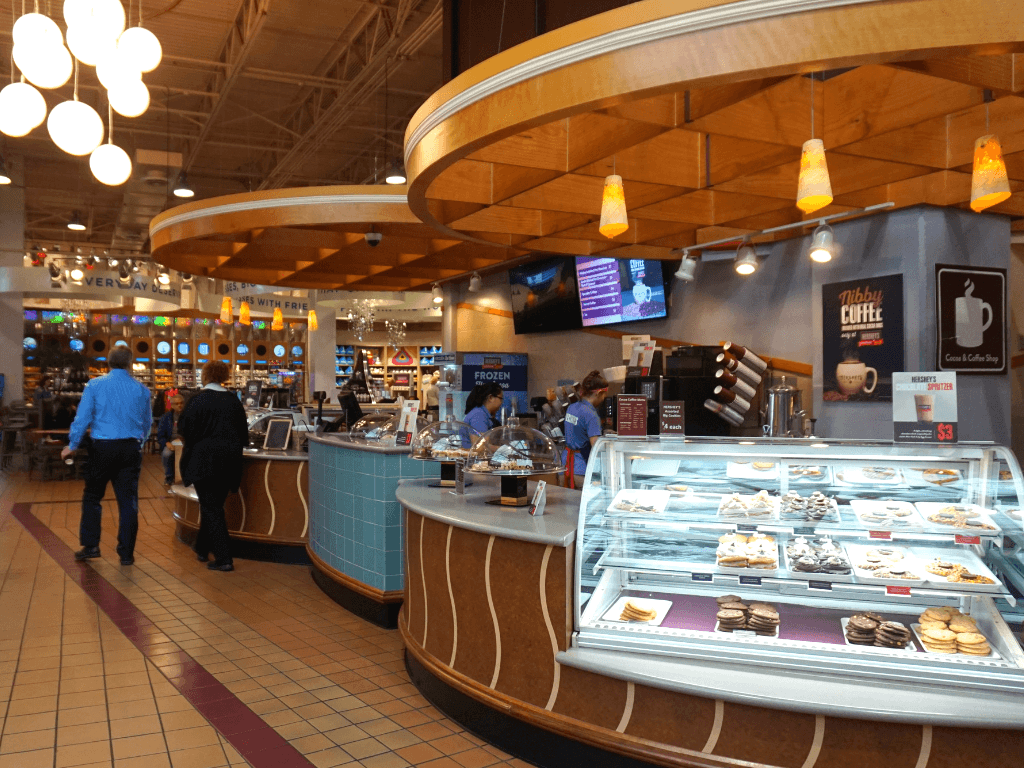 Hershey's Chocolate World has many meal options in the Food Court
