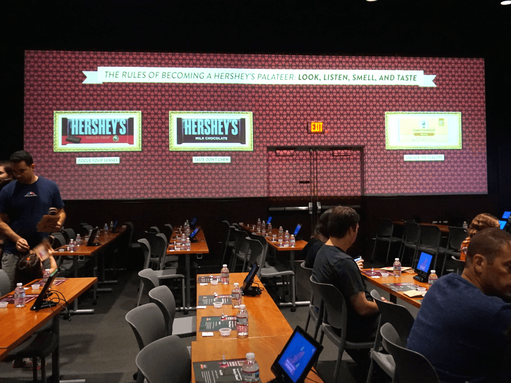 Getting ready for our Hershey's Chocolate Tasting Experience