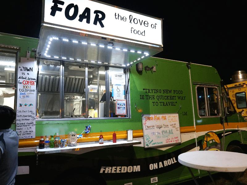 FOAR food truck is one of the many Haulover Park food trucks