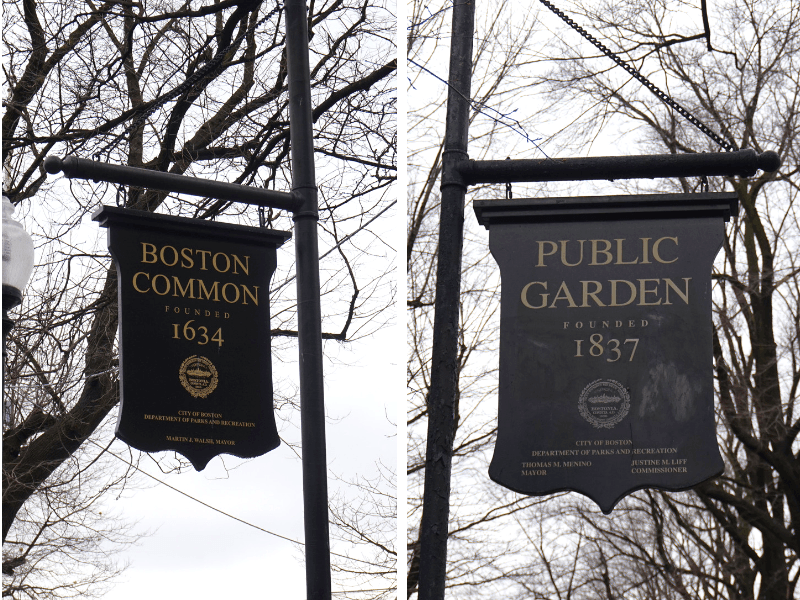 Take a quick stroll through the Boston Commons and Public Gardens on your one day in Boston