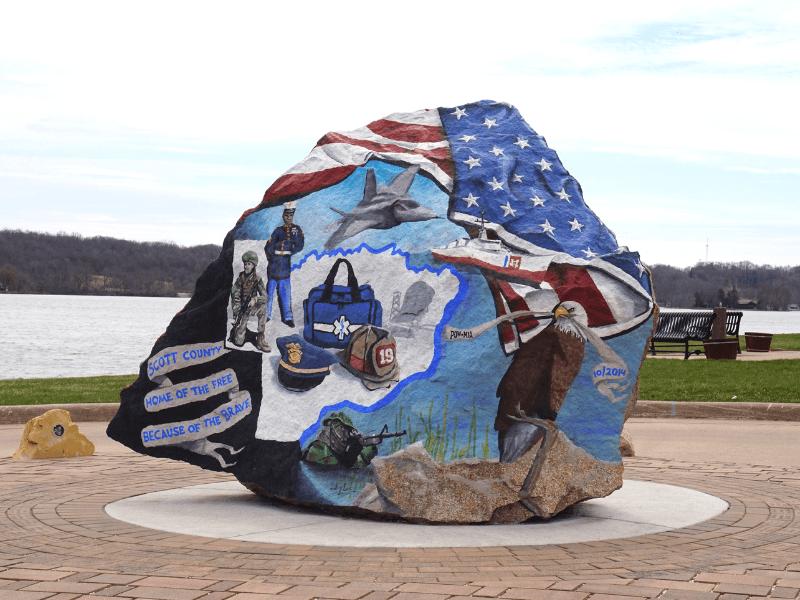Scott County Freedom Rock in LeClaire, Iowa