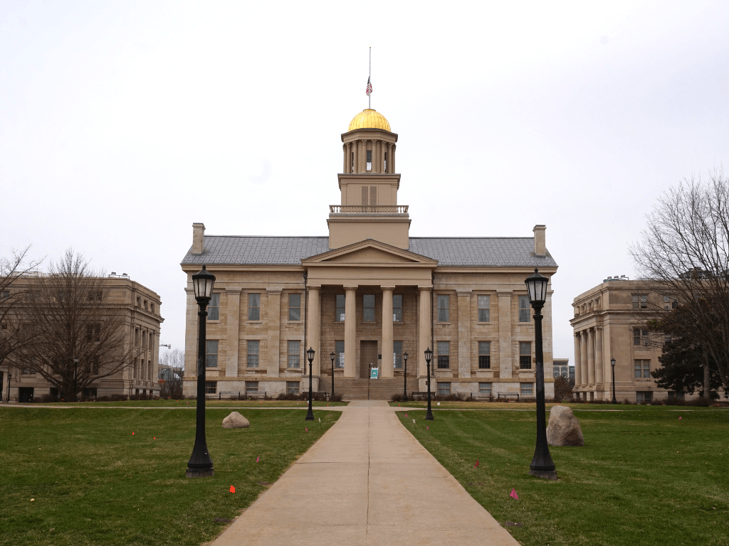 Things to do in Iowa City include visiting the Old Capitol Museum