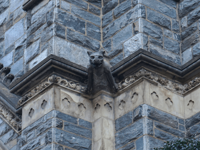 Gargoyle outside of St Patrick's Catholic Church