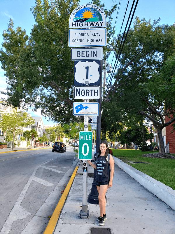 Mile Marker 0 in Key West, Florida