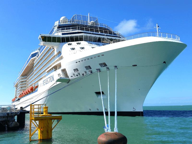 Cruise ship docked in Key West