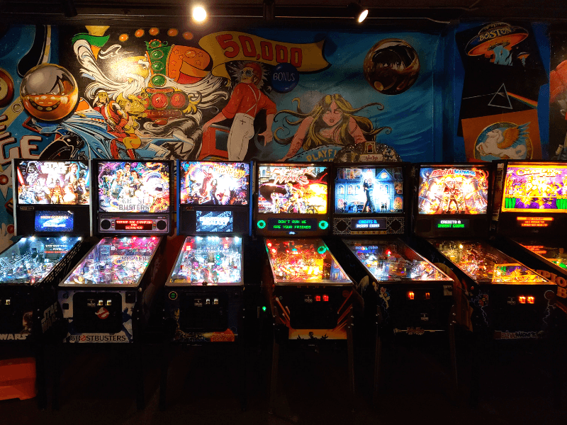 Pinball machines inside Pints & Pixels make it one of the most fun things to do in Huntsville Alabama