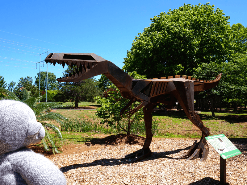 A dinosaur at the Huntsville Botanical Garden