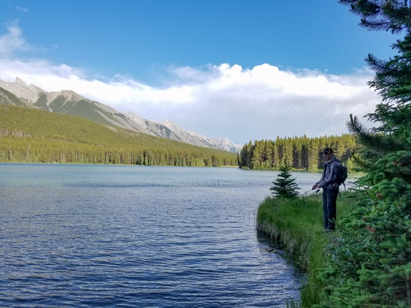 Fishing on Two Jack Lake