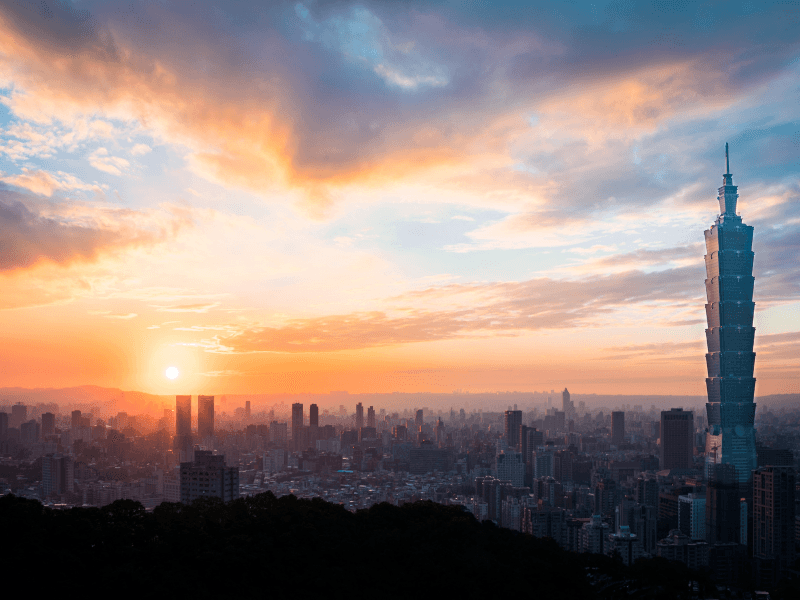 Getting a view of Taipei 101 from Elephant Mountain is one of the best things to do in Taiwan