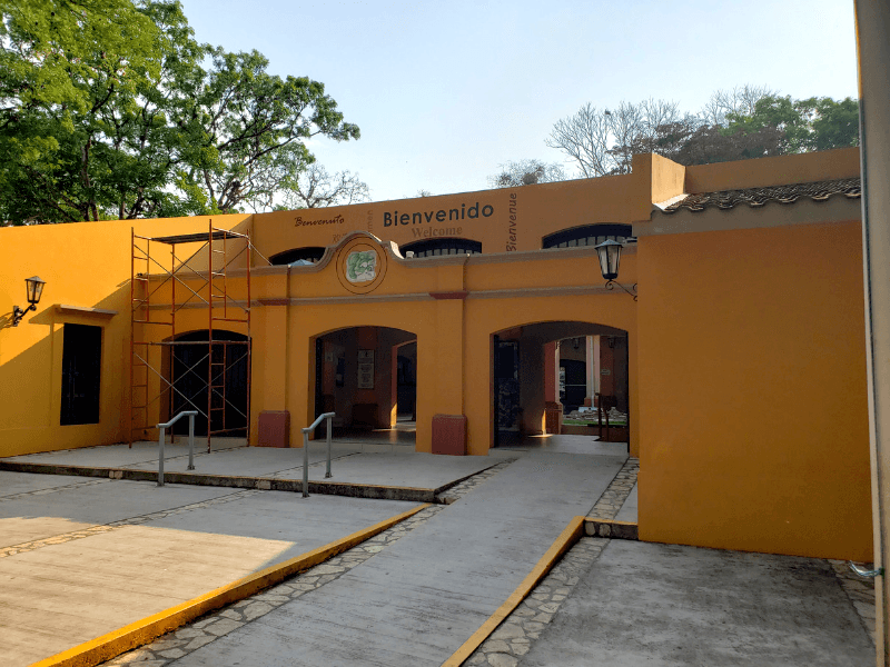 The entrance to the Copan ruins