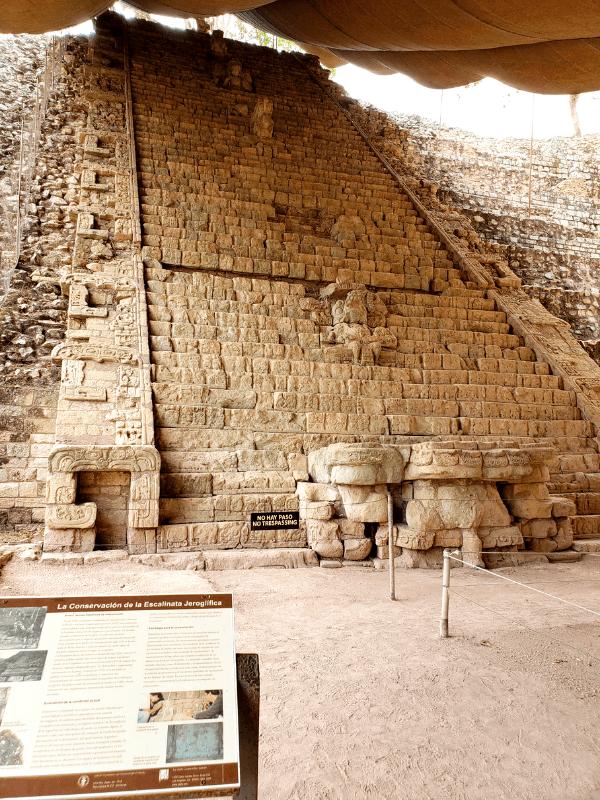 Hieroglyphic Staircase in Copan Ruinas Honduras