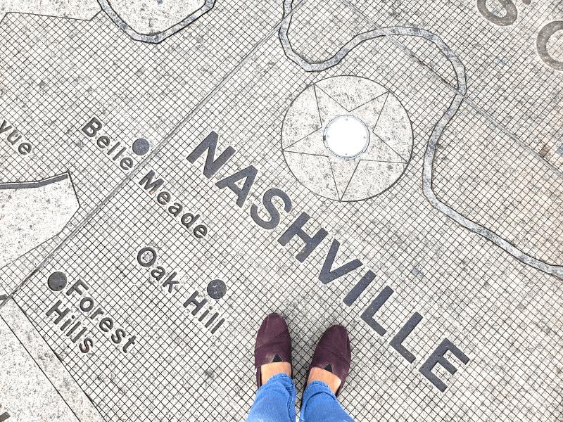 Nashville map at Bicentennial Capitol Park