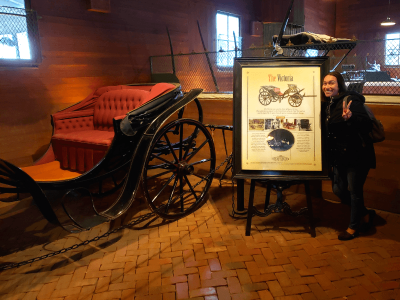 "Inside the carriage house at Belle Meade, we found a carriage called ""The Victoria"""