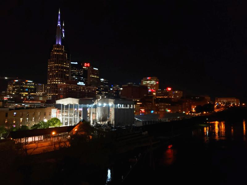 Nashville skyline at night
