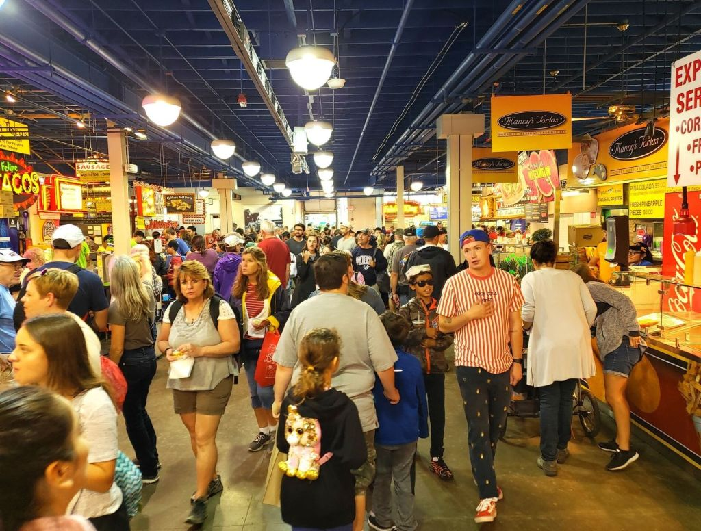 Inside the Food Building at the Minnesota State Fair