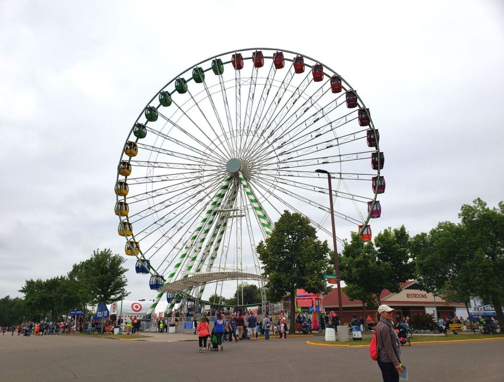The Great Big Wheel is a Minnesota State Fair icon