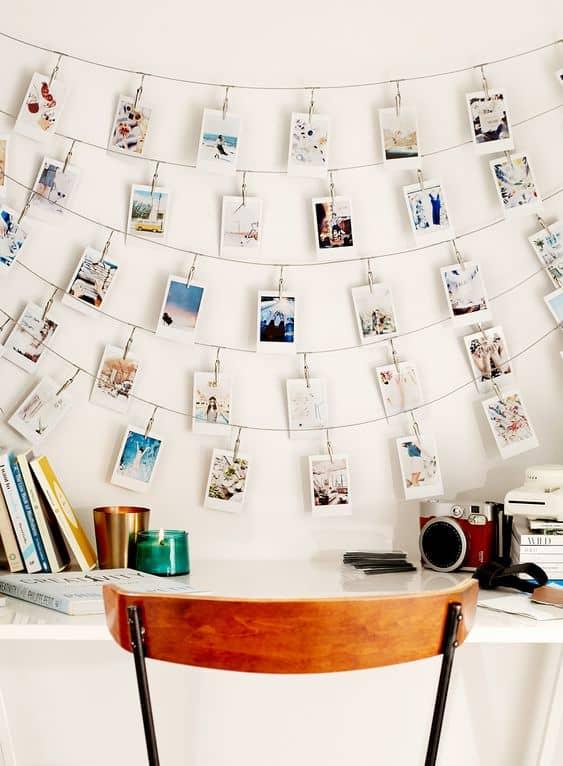 polaroid svatební cesta dekorace