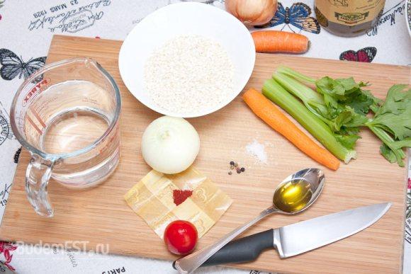 Ингредиенты для ризотто с шафраном