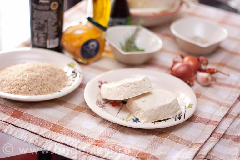 Ингрдиенты для риса басмати и тофу