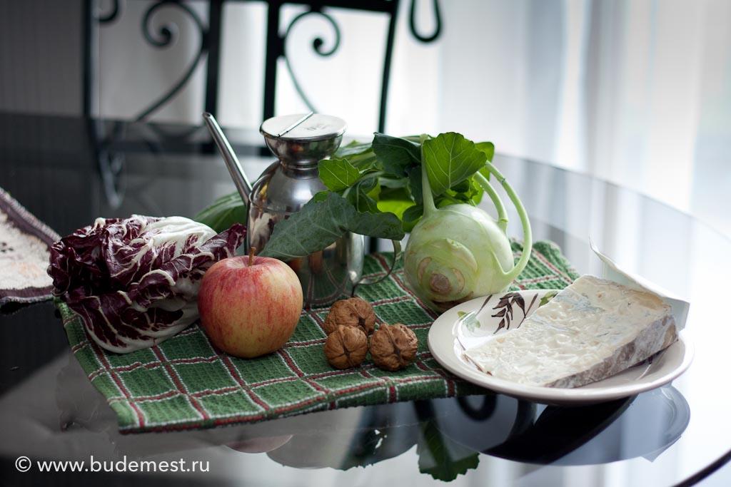 Ингредиенты для приготовления салата из Кольраби