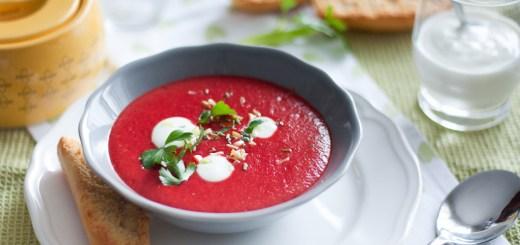 Свекольный крем суп с йогуртом