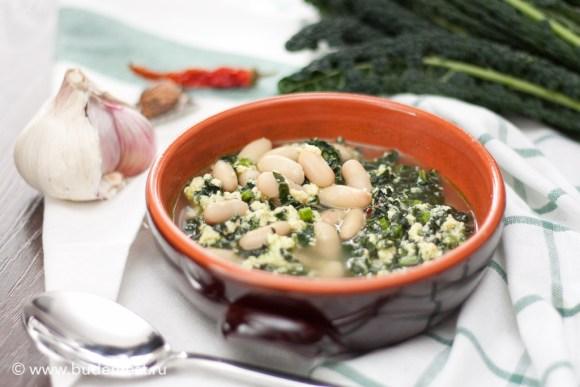 Тосканский суп страччателла с капустой