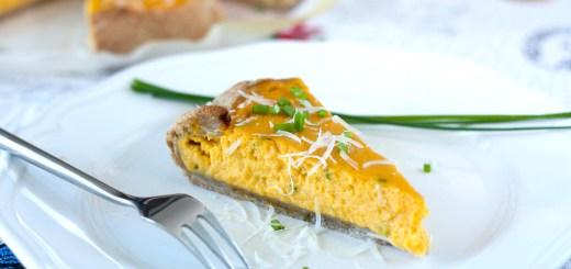 Соленый пирог с кремом из тыквы