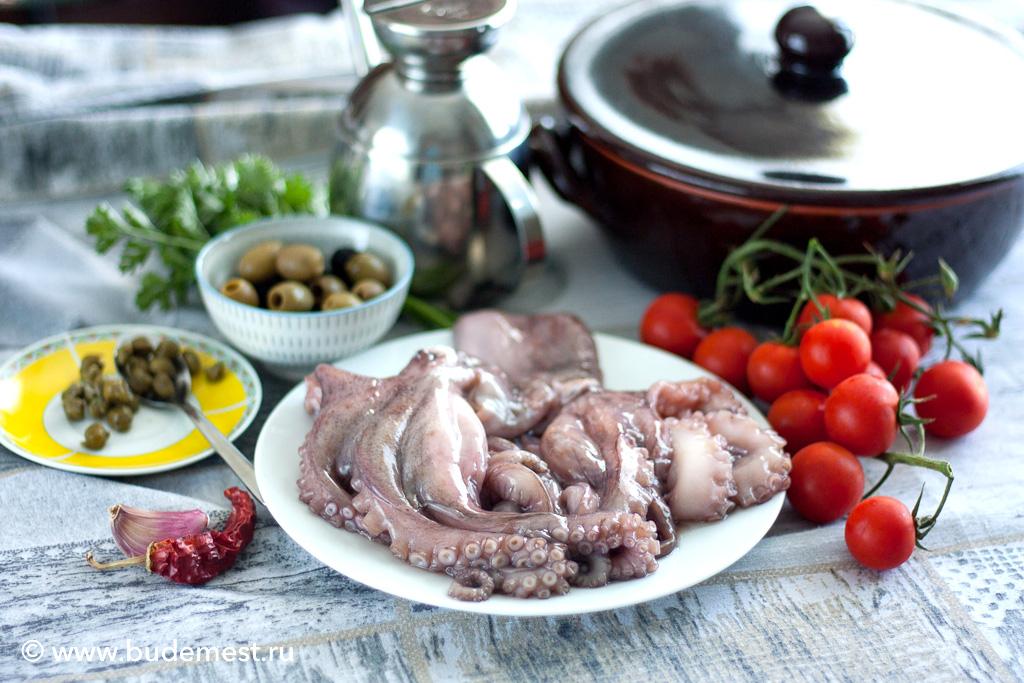 Ингредиенты для приготовления осьминога алла Лучана