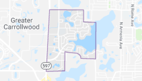 Carrollwood Locksmith Map