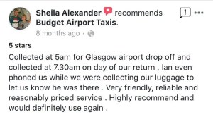 budget glasgow airport taxi transfers review