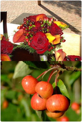 fall wedding flowers berries