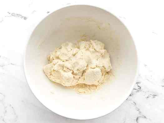 Biscuit dough in the bowl