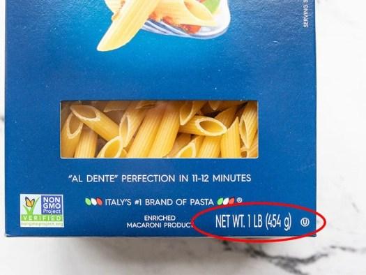 Penne pasta box
