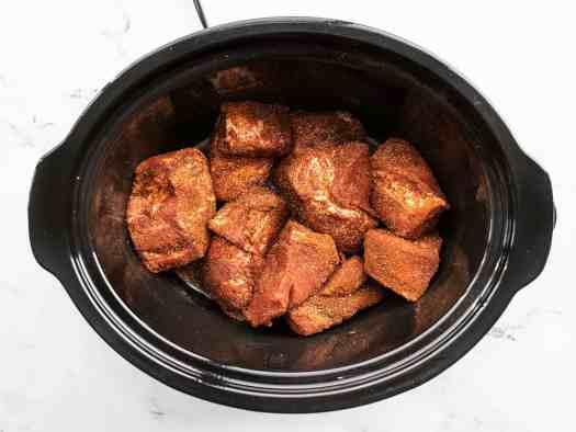 Seasoned pork in the slow cooker