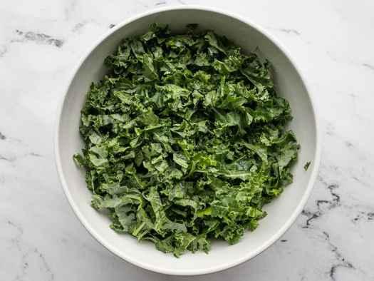 Chopped kale in a bowl