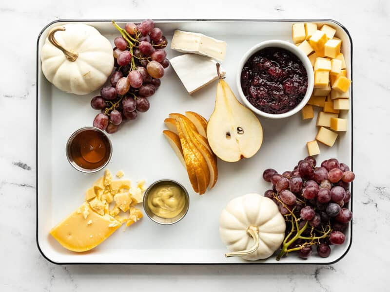 Cheeses added to the board