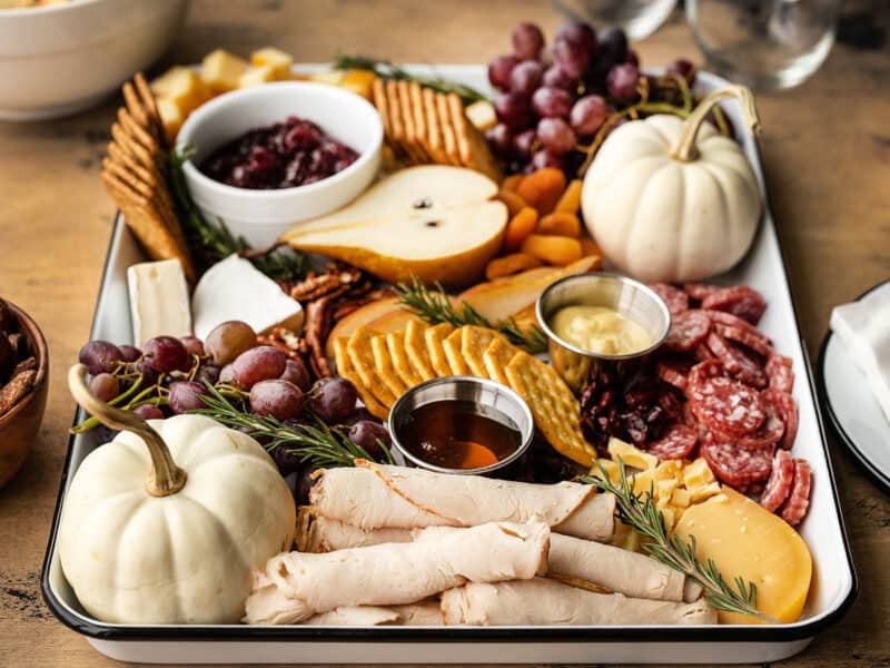 Side view of Thanksgiving Grazing Board