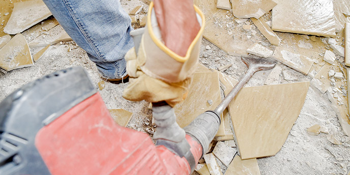 how to remove tile flooring budget