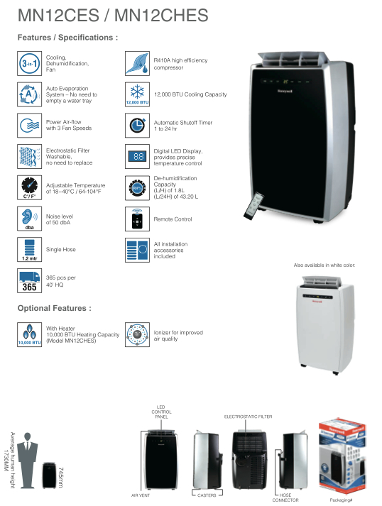 Want to stay cool this summer? Enter to win a Honeywell MN12CESWW Portable Air Conditioner (MSRP: $599.95) here!