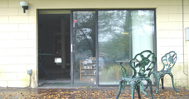 how to fix a sticky sliding glass door