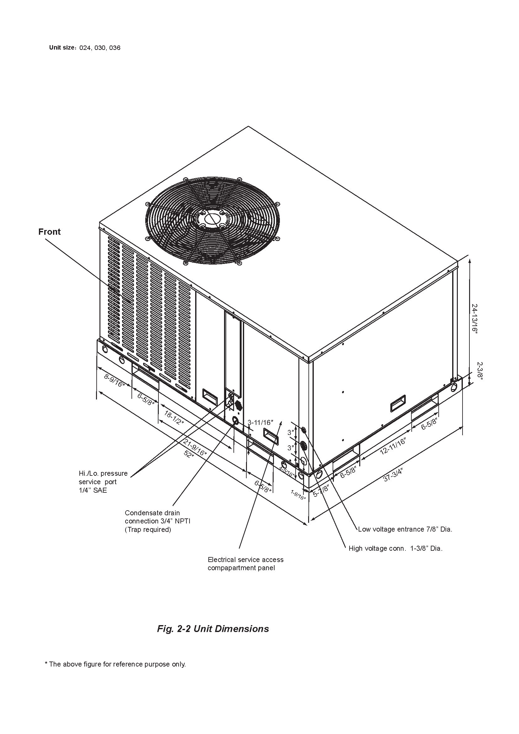 2 5 Ton Diamondair 14 Seer Heat Pump Package Unit D Hpt