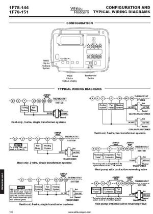 Thermostat White Rodgers 1F78144 1H1C NonProgrammable