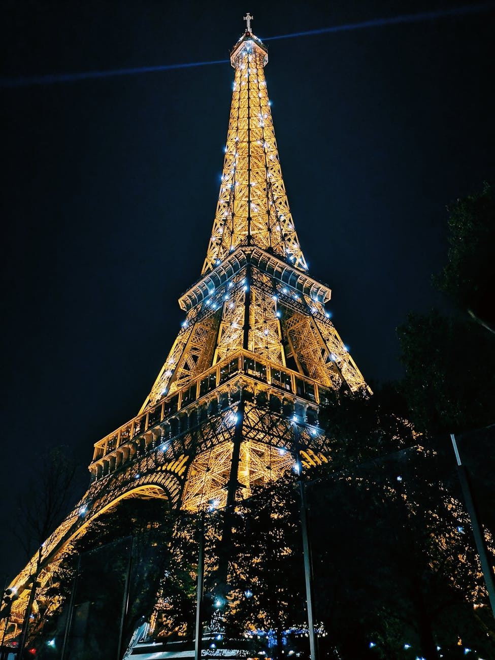 eiffel tower paris during night time