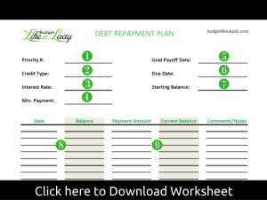 Debt Repayment Plan Tutorial