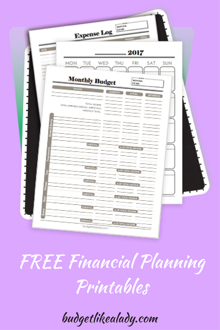 image about Free Printable Financial Planner identified as Cost-free Economical Developing Printables - Finances Which include a Female