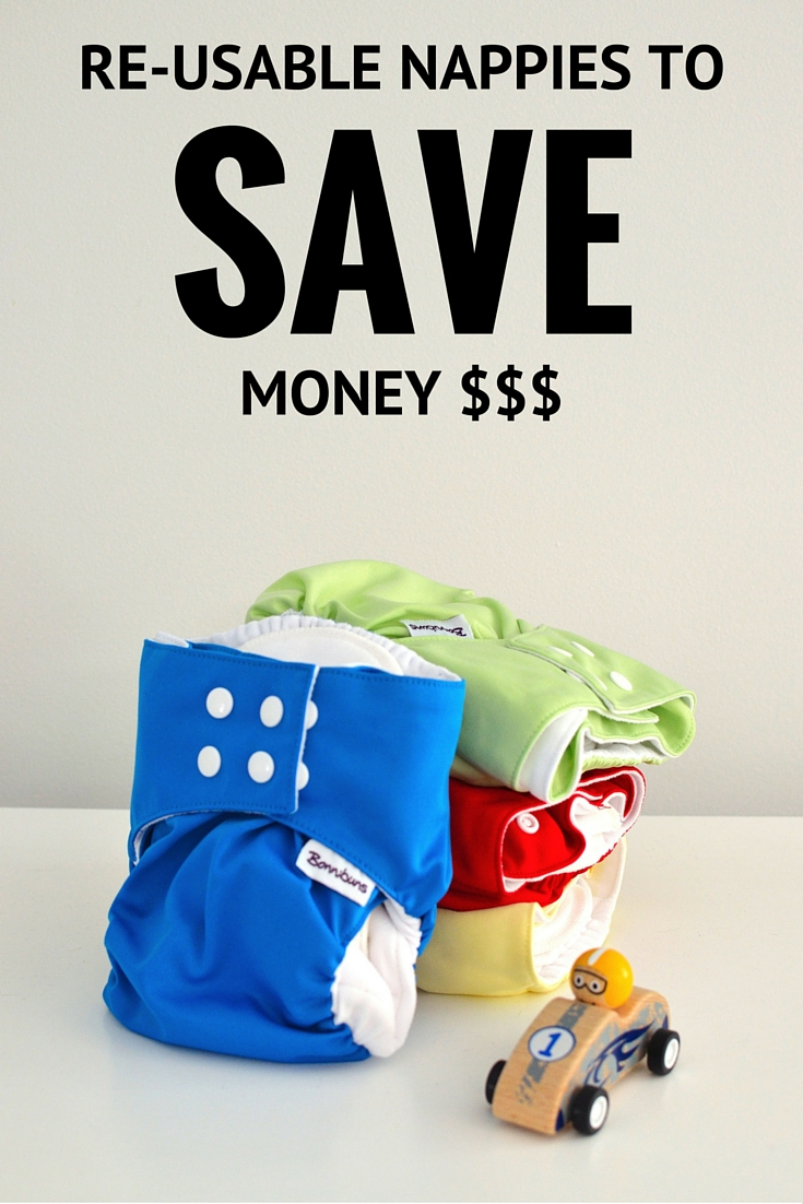 Save money with re-usable modern cloth diapers