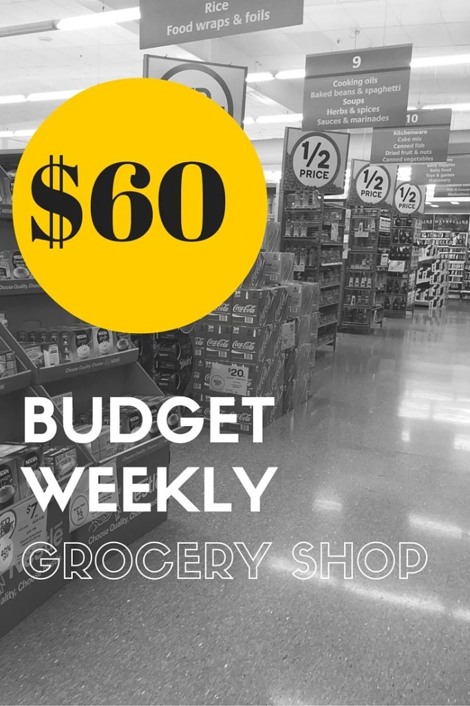$60 budget weekly grocery shopping list & ideas