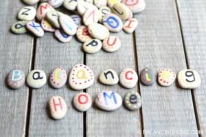 cute alphabet rocks